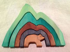 Earth Element Bear Stacker Waldorf by MossyMountainMagick on Etsy