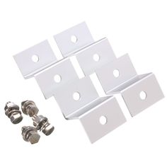 4pcs Z-angle Mount Style Bracket Aluminium Solar Panel Mounting Clip For Solar Panel. 4Pcs Z-angle Mount Style Bracket Aluminium Solar Panel Mounting Clip For Solar Panel  Feature:   100% new and high quality Solar photo voltaic slice z-type Z type design, simple design, convenient installation Suitable for solar panels on the RV, boat and house More appropriate framed solar panels   Specifications:   Product name: solar panel Material: stainless steel Silver color Size: about 5.5x3.8x2cm…