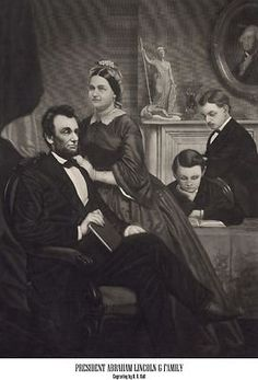 His wife's name was Mary Todd Lincoln. Together they had 4 children Robert Todd Lincoln, Edward Lincoln, Willie Lincoln, Tad Lincoln. Greatest Presidents, American Presidents, American Civil War, American History, Abraham Lincoln Family, Lincoln Life, Robert Todd Lincoln, Thomas Roberts, Mr President