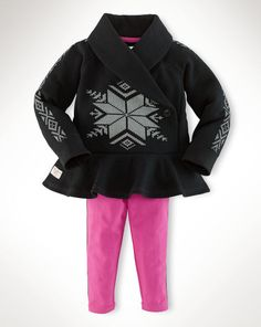 Shawl-Collar-Pullover Set - Baby Girl Outfits & Gift Sets - RalphLauren.com