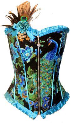 royal peacock   Kawaii Parlor Royal Peacock Corset