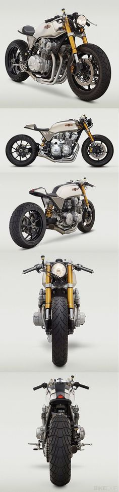 Honda CB Cafe Racer hoping to build one similar with gsxr forks and a Ducati 748 single side swingarm