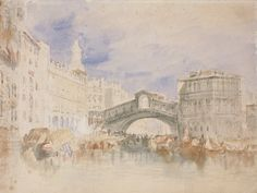 The Rialto, Venice by  Joseph Mallord William Turner