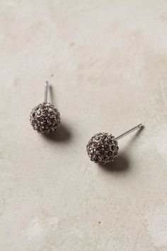 lilac colored pave post earrings  I think I could handle a pair in each color :)