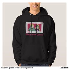 king and queen couple hoody