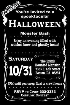 Halloween birthday party invitations get these invitations right halloween birthday party invitations get these invitations right now design yourself online download and print immediately or choose my printi solutioingenieria Gallery