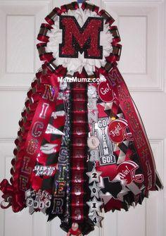 Melz Mumz Basic Homecoming Single Garter.  Custom made homecoming mums and garters by melzmumz.com