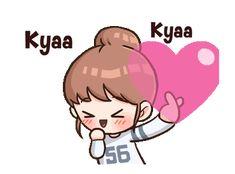 Little Bun : Fangirl Mode Gifs, Anime Korea, Korean Expressions, Hug Gif, Pet Day, Animation Reference, Korean Language, Line Sticker, Cheer Up
