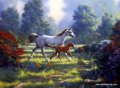 """""""First Outing"""" painting by Derk Hansen - from Wildlife Prints"""