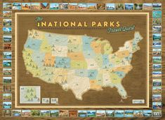 NEW National Parks Travel Quest Poster by MapYourTravels on Etsy
