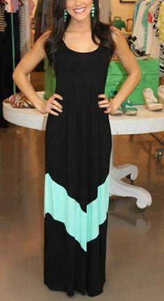 MODMINT: Chevron Maxi Dress. I love love love maxi ... | elfsacks