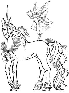 unicorn coloring page free unicorn with fairy coloring pictures unicorn cartoon coloring pages