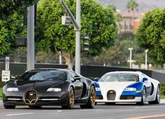 Double Bugatti Veyron pursuit. Mansory special edition leading the way #CarFlash