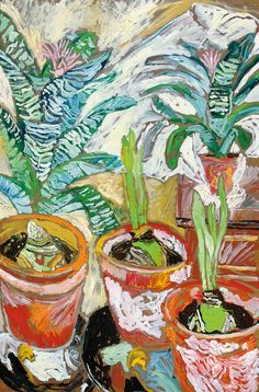 "igormaglica: "" John Randall Bratby, Amaryllis, c. oil on board, x 61 cm "" ! Art Inspo, Kunst Inspo, Painting Inspiration, Art Floral, Art And Illustration, Still Life Art, Art Uk, Art Design, Your Paintings"