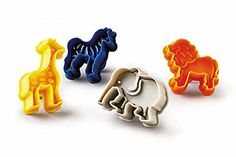 Animal Biscuit Cutters Safari Set Of 4  Giraffe Zebra Elephant Lion -- Continue to the product at the image link.(This is an Amazon affiliate link and I receive a commission for the sales)