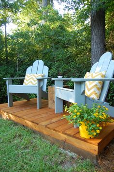 DIYer @antebellum1862 stained her deck with Olympic Elite in Mountain Cedar. See the 3 ways her family is using it now—including an outdoor movie theater.