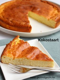 nu - A healthy coconut cake, based on a cheesecake recipe. It has a nice bite bec - Healthy Pastry Recipe, Pastry Recipes, Healthy Sweets, Healthy Baking, Happy Foods, Food Cakes, Christmas Baking, Cheesecake Recipes, Queso