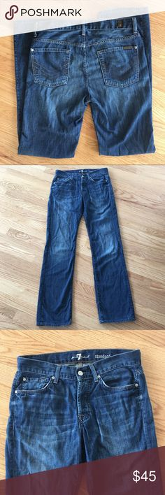 """7 For All Mankind Standard Jeans Approx. 16.5"""" flat waist, 33"""" inseam. Standard cut. Size 30. Great, pre-loved condition. 7 For All Mankind Jeans"""