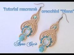 "Tutorial macramè orecchini ""Black & White""/Tutorial macramé earrings ""Black & White""/Diy tutorial - YouTube"