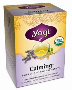 Yogi Calming Herbal Tea Supplement 16-Count Tea Bags (Pack of 6) is an exclusive blend based on time-tested Ayurvedic herbs that can help soothe stress and tension, and encourage a state of relaxation.