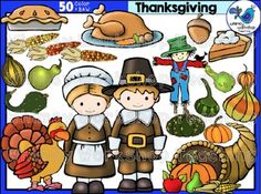 *Clip art sets are 50% off for the first 24 hours. Be sure to follow Whimsy Workshop on Facebook! and TPT for new product notifications!This clip art set features everything about Thanksgiving: a pilgrim girl and boy, a turkey, and a wide assortment of seasonal foods.