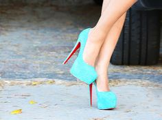 christian louboutin daffodile....LOVE!   I will buy these for myself one day. A lovely twist on the classic black stilleto.