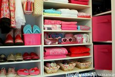 Creatively Organizing a  Closet