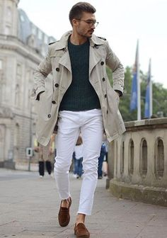 23 Cool Spring White Jeans Outfits For Men - Fashionetter Style Casual, Casual Outfits, Men Casual, Fashion Outfits, Men's Style, Style Star, Loafers Outfit, Mens Fashion Blog, Men's Fashion
