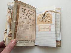 Vintage ephemera junk journal