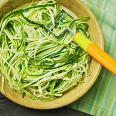 Zucchini Noodles (featuring the Julienne Peeler, which I have and love).....via She Cooks She Cleans...