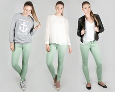 3 different styles with Fornarina pants. Different Styles, Capri Pants, Fashion, Moda, Capri Trousers, Fashion Styles, Fashion Illustrations