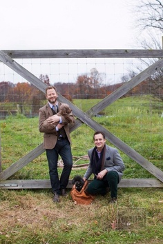doesn't get more adorable than @Matthew Robbins Photography, his dapper beau and their cute pup Photography by christianothstudio.com