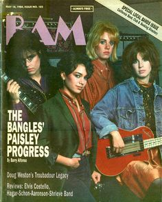 The Bangles on the Cover of BAM Magazine, May Susanna Hoffs, The Bangles Band, Michael Steele, City Winery, Fun Walk, Elvis Costello, Local Bands, Pop Rock Bands, Big Star