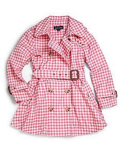 Ralph Lauren Toddler's & Little Girl's Gingham Trenchcoat