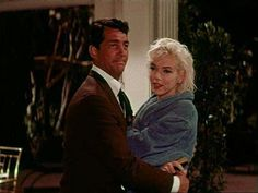 "Marilyn Monroe and Dean Martin on the set of ""Something's Got To Give"", 1962."