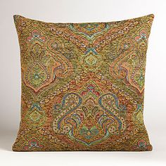 Peacock Jacquard Venetian Pillow | World Market