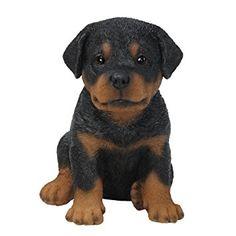 Figura ornamental de cachorro de Rottweiler