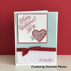 Charlotte Minear - Valentine's Day card featuring Stampin' Up! 2017 Occasions Catalog products.