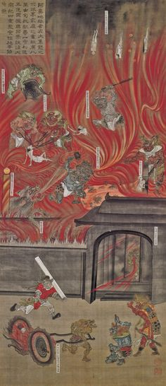 The three fires in the middle of the wheel are the three causes of animus inviolabilis avici the lowest level of buddhist hell fandeluxe Images