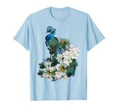 Blue-green-Peacocks T-Shirt Nadine May