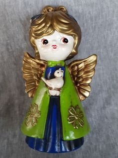 Holt Howard Mid Century Angel Figure on Mercari Wings, Mid Century, Angel, Christmas Ornaments, Disney Princess, Holiday Decor, Disney Characters, Products, Art