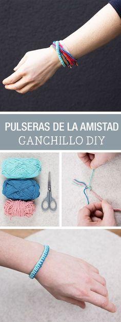 Tutorial DIY - CÓMO HACER PULSERAS DE LA AMISTAD CON LANA DE TRES COLORES en DaWanda.es