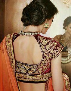 Amazing handwork on blouse