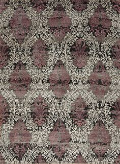 Très Jolie Wool & Silk - Amelie - Samad - Hand Made Carpets Black Rugs, Home Rugs, Hand Spinning, Silver Roses, Amelie, Floral Motif, Carpets, Design Elements, Hand Carved
