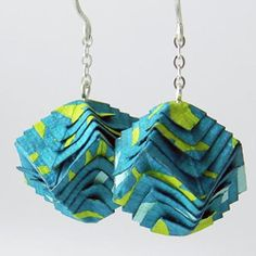 Come read a fun interview with paper jewelry artist Libby Hampel. (photo via LJLH Designs)