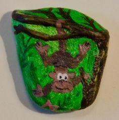 Little monkey - rock painting by Annamoon77 on deviantART