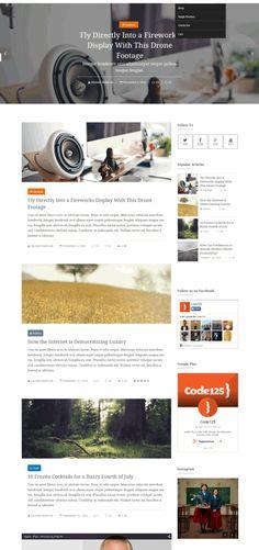 Crystal - шаблон персонального блога для WordPress