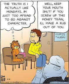 #Garfield comes clean in Brevity! | GoComics.com #humor #comics