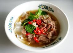 Beef Kway Teow (Flat Rice Noodles) Soup