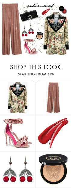 """""""Feeling the Magic"""" by stavrolga on Polyvore featuring Concrete Minerals, Gucci, MANGO, Oscar Tiye, Axenoff Jewellery and whimsical"""